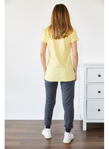 XHAN Sarı & Gri Baskılı EşoftmanTakım  Sarı